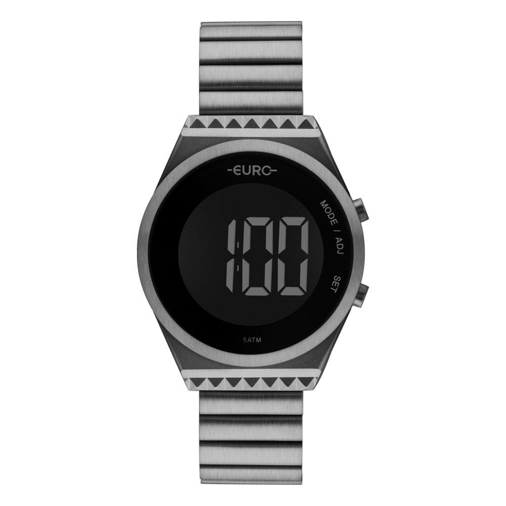 Relógio Euro Fashion Fit Slim Cinza Feminino  EUBJT016AC/4C