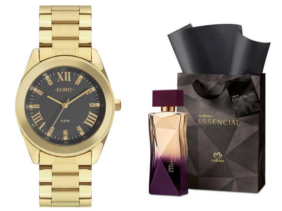 Relógio Euro Feminino EU2036YND/4C + Perfume Natura Essencial Exclusivo