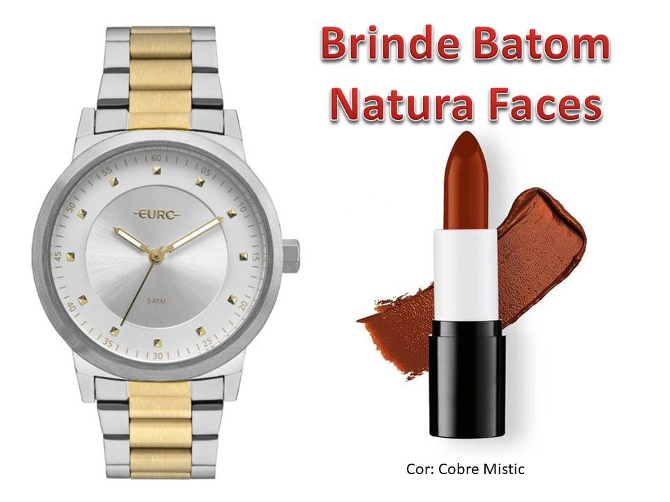 Relógio Euro Feminino EU2036YNR/5K + Brinde Batom Natura Faces