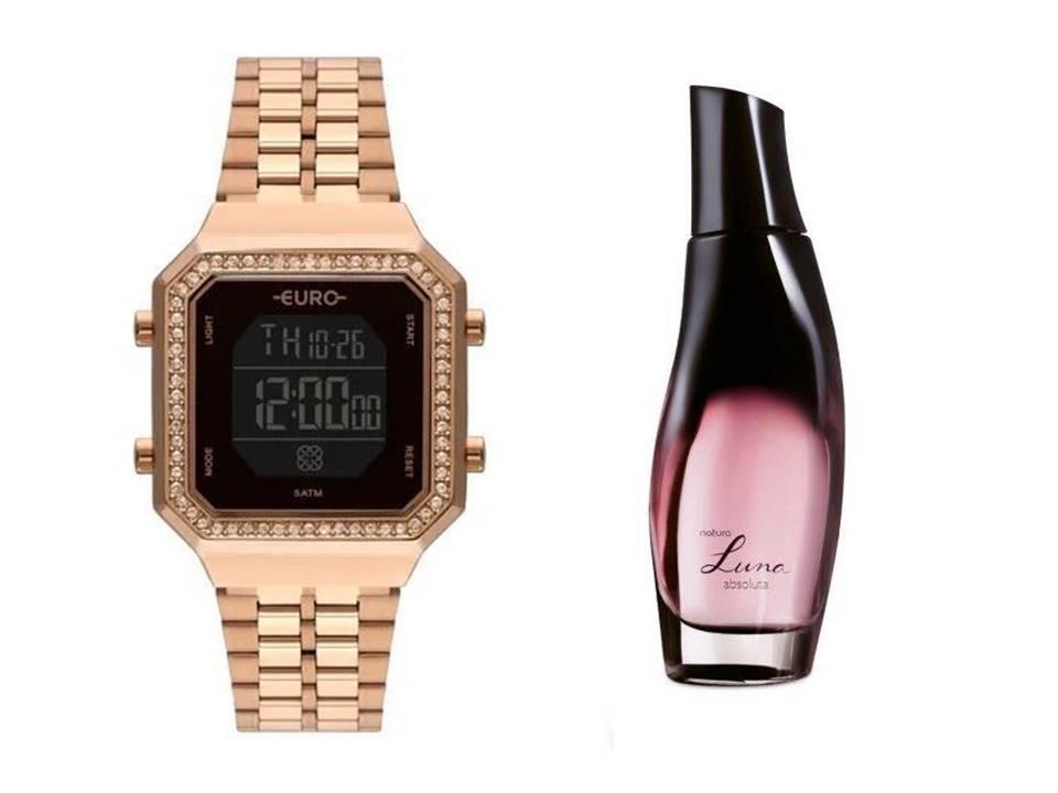 Relógio Euro Feminino EUBJK032AA/4P + Luna Absoluta 75ml