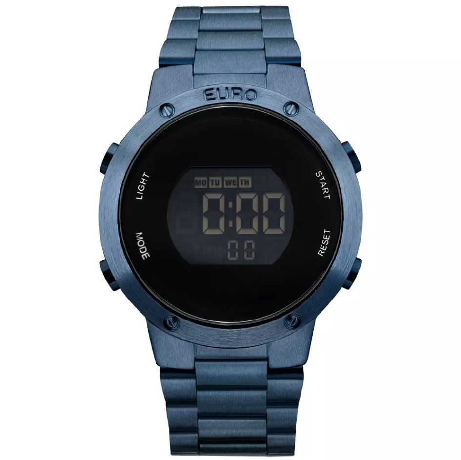 55cf628e9f9 Relógio Euro Fashion Fit Feminino Azul EUBJ3279AC 4A - Relógios de ...