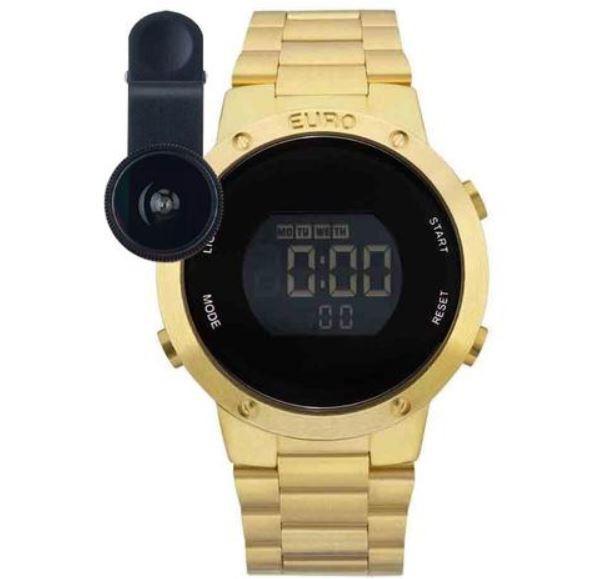 Relógio Feminino Euro Fashion Fit Dourado EUBJ3279AA/4D
