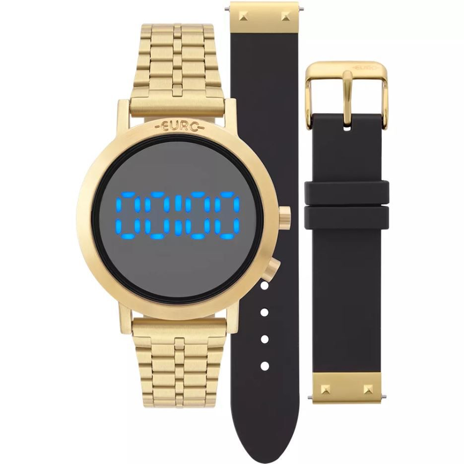 c3317d7a2f6 Relógio Euro Feminino Fashion Fit Dourado Troca Pulseiras EUBJ3407AA T4P