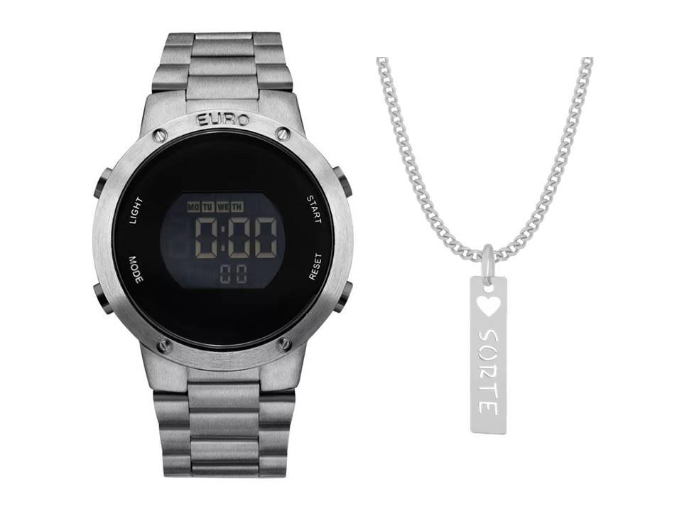 Relógio Euro Feminino Fashion Fit EUBJ3279AE/4K + Corrente Sorte
