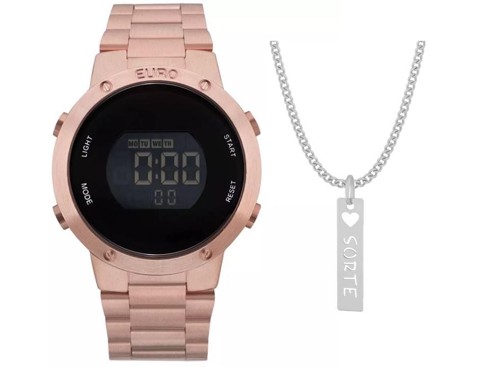 Relógio Euro Feminino Fashion Fit EUBJ3279AF/4J + Corrente Sorte