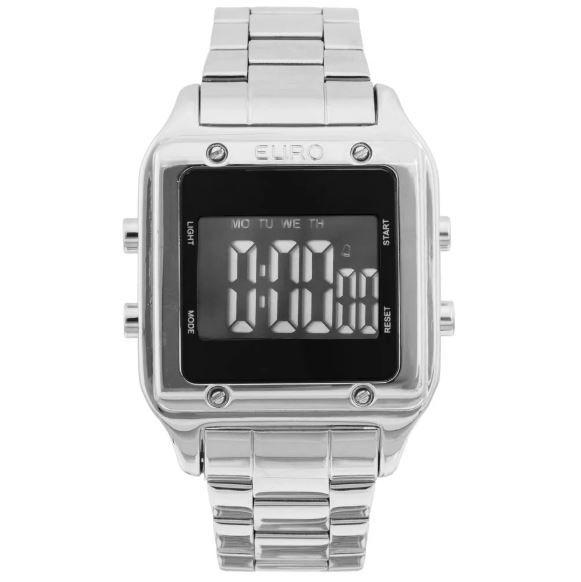 Relógio Euro Feminino Fashion Fit Prata EUG2510AB/3P