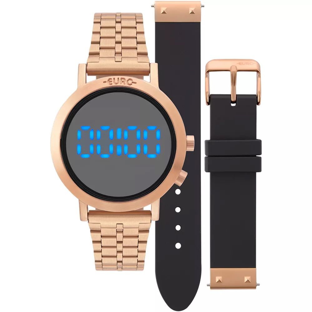 4dd798ebe Relógio Euro Feminino Fashion Fit Rose Troca Pulseiras EUBJ3407AC/T4P