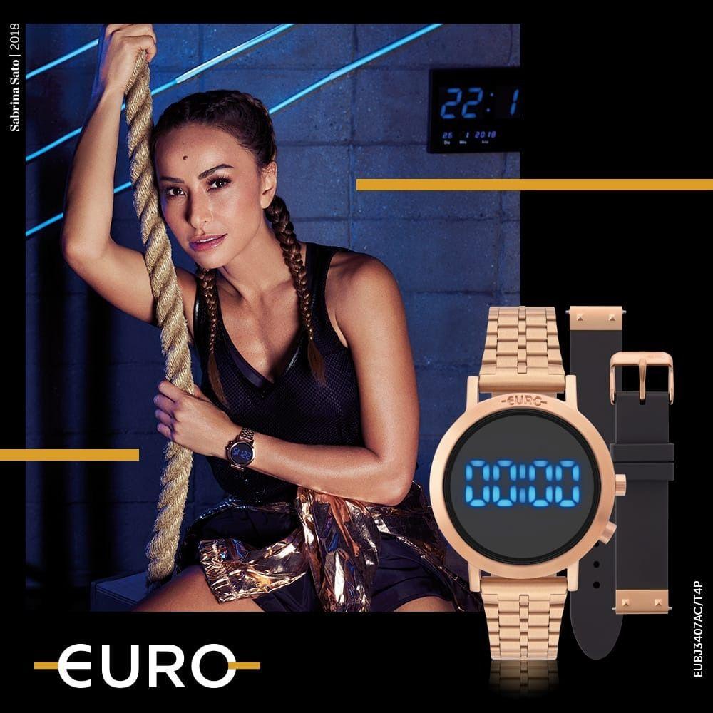 Relógio Euro Feminino Fashion Fit Rose Troca Pulseiras EUBJ3407AC/T4P