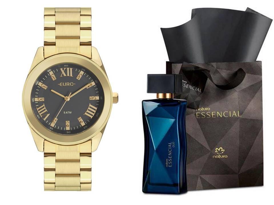 Relógio Euro Feminino EU2036YND/4C + Perfume Natura Essencial Oud