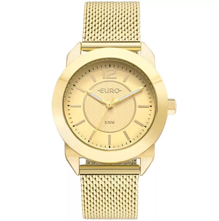 cb77273f857 Relógio Euro Geometric Power Dourado Feminino EU2036YLS 4D ...