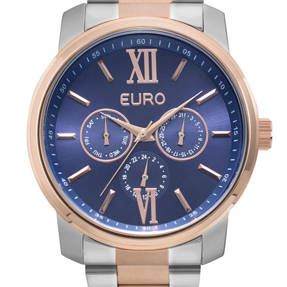 Relógio Euro Metallics Bicolor Prata e Rose Feminino EU6P29AKETD/5A