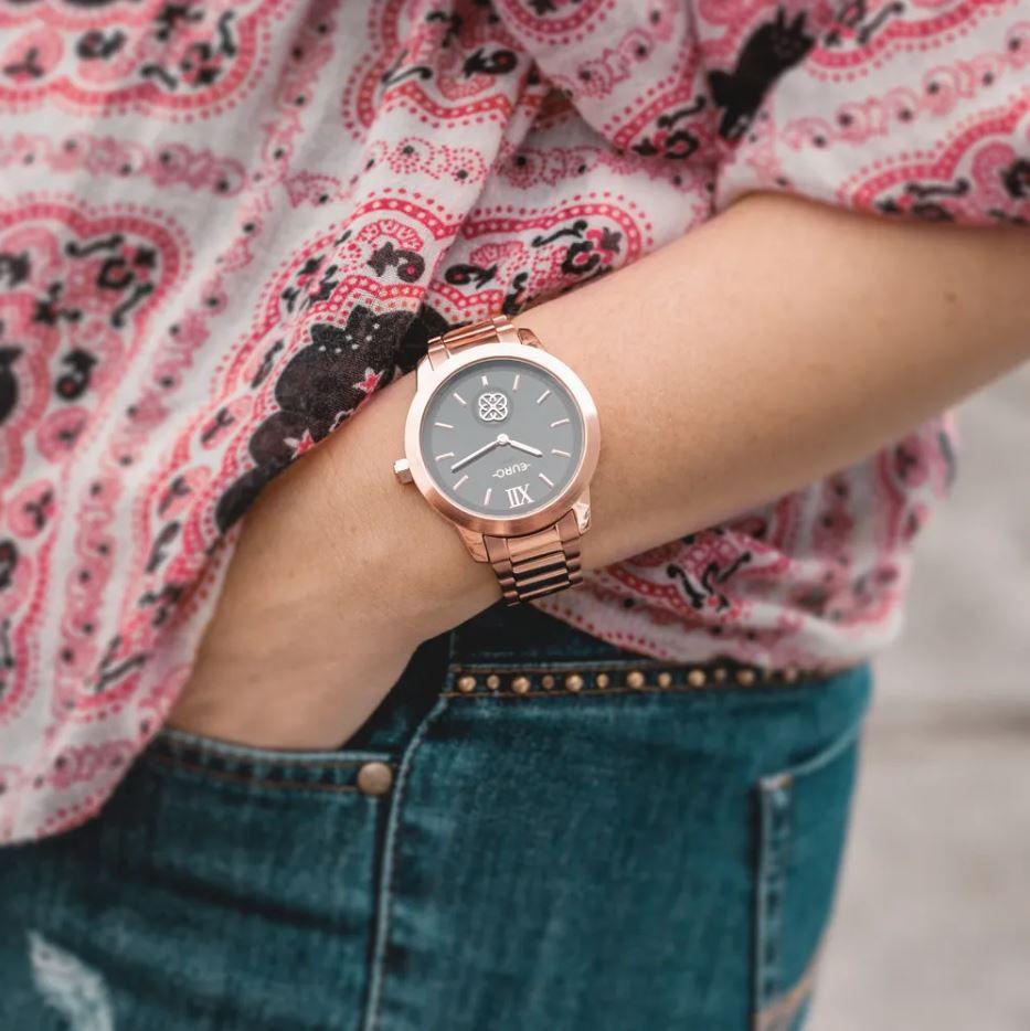 Relógio Euro Move Charm Rose Feminino EUVD78A4AA/4C