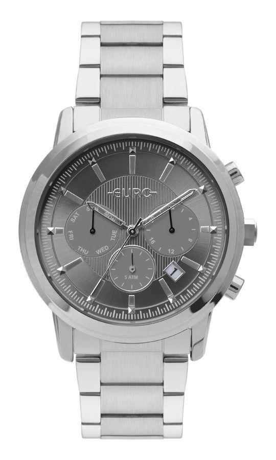 Relógio Euro Multi Basics Pushers Prata Feminino EUJP25AA/3C