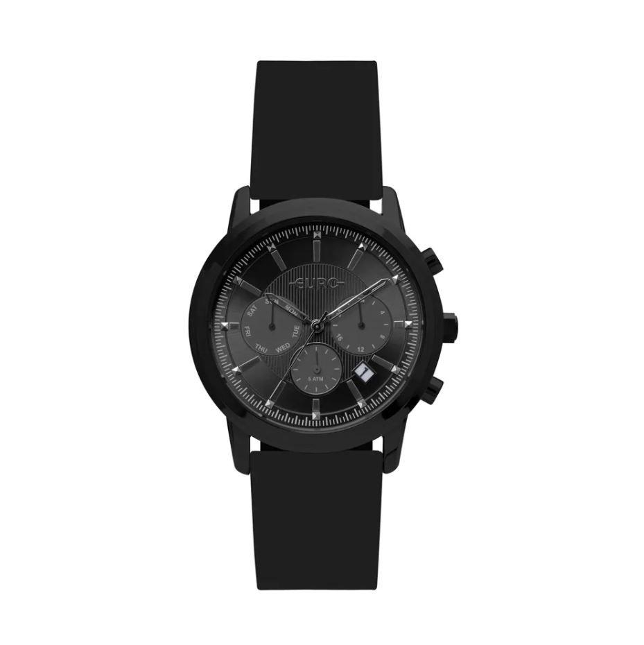 62bf6be2f41 Relógio Euro Multi Basics Pushers Preto Feminino EUJP25AC 8P ...