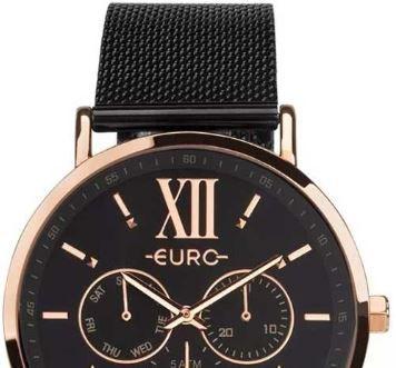 Relógio Euro Multi Glow Rose e Preto Feminino EU6P29AHG/5P