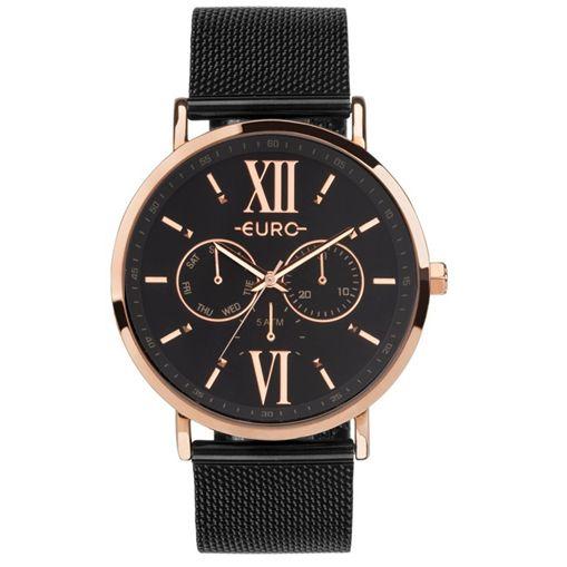 Relógio Euro Multifunção Rose e Preto Feminino EU6P29AHG/5P