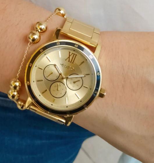Relógio Euro Multiglow  Dourado Feminino EU6P29AHI/4D