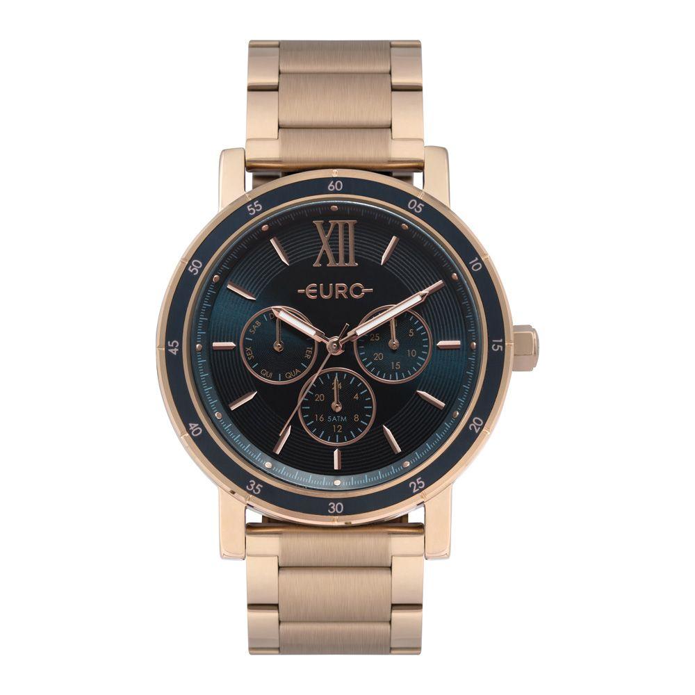 Relógio Feminino Euro Multiglow  Rose EU6P29AHH/4A