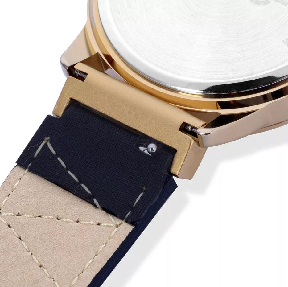 Relógio Euro Neoprene Feminino Dourado Troca Pulseiras EU2035YOK/4D