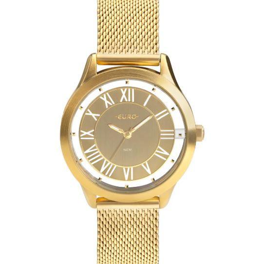Relógio Feminino Euro Ouse Ser Você Mesma Dourado EU2039JH/4D