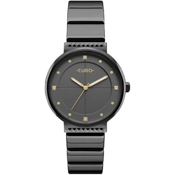 Relógio Euro Spike Slim Preto Feminino EU2035YOB/4P