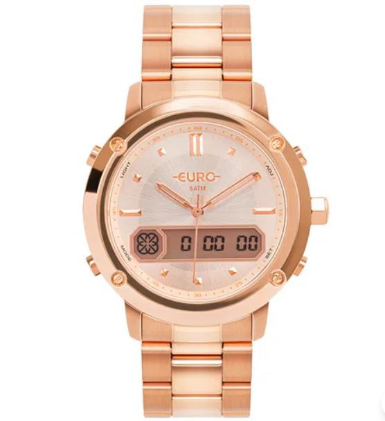 Relógio Euro Sporty Lux Rosé Feminino EUBJ3890AB/4J