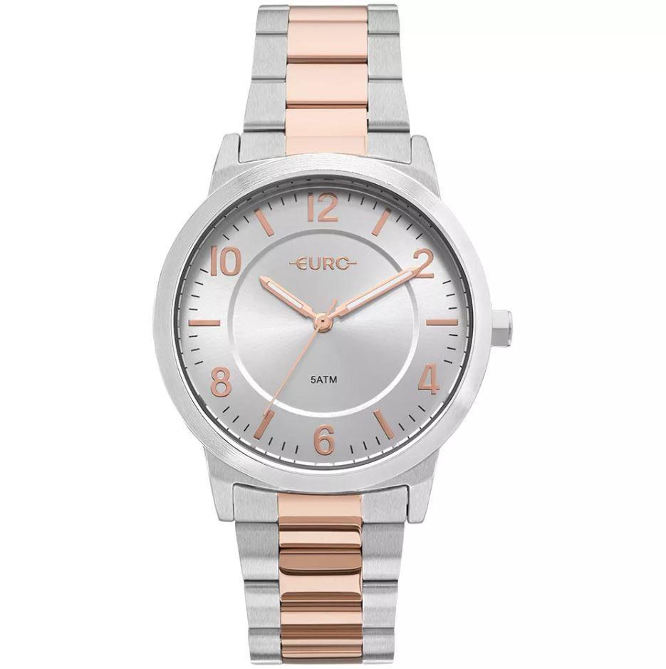 Relógio Euro Trendy Bicolor Prata / Rose Feminino EU2036YLW/5K