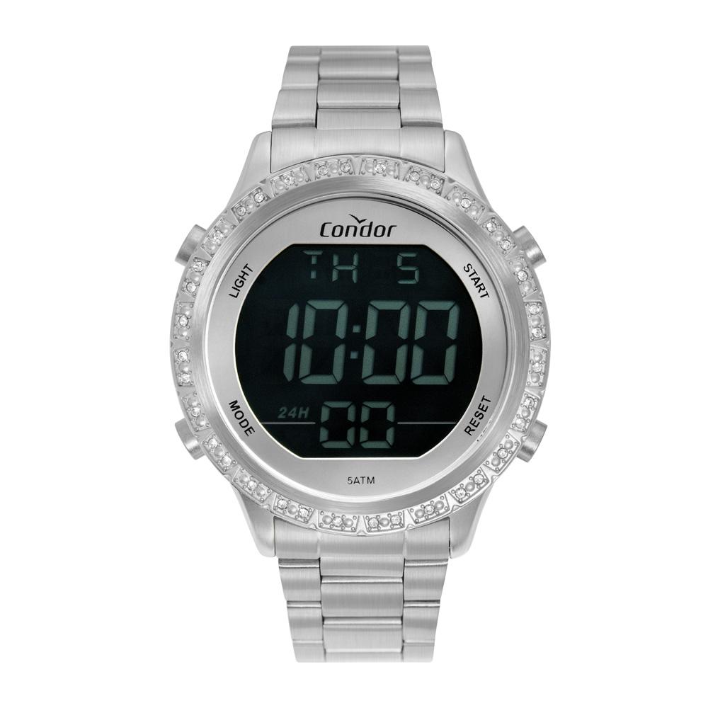 Relógio Feminino  Condor Digital Prata COBJ3463AI/3K