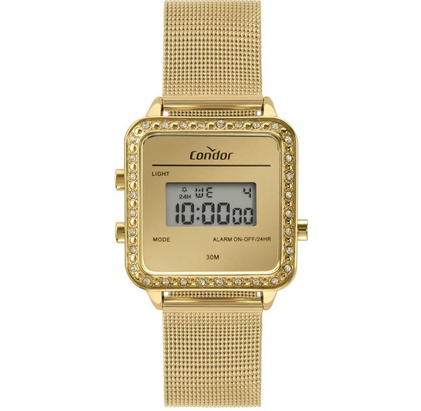 Relógio Feminino Condor Mini Digital Dourado COJH512AM/4D