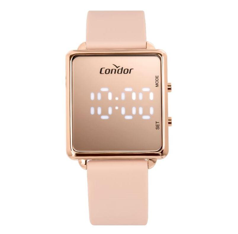 Relógio Feminino Condor Rose Digital Led COMD1202AH/5J