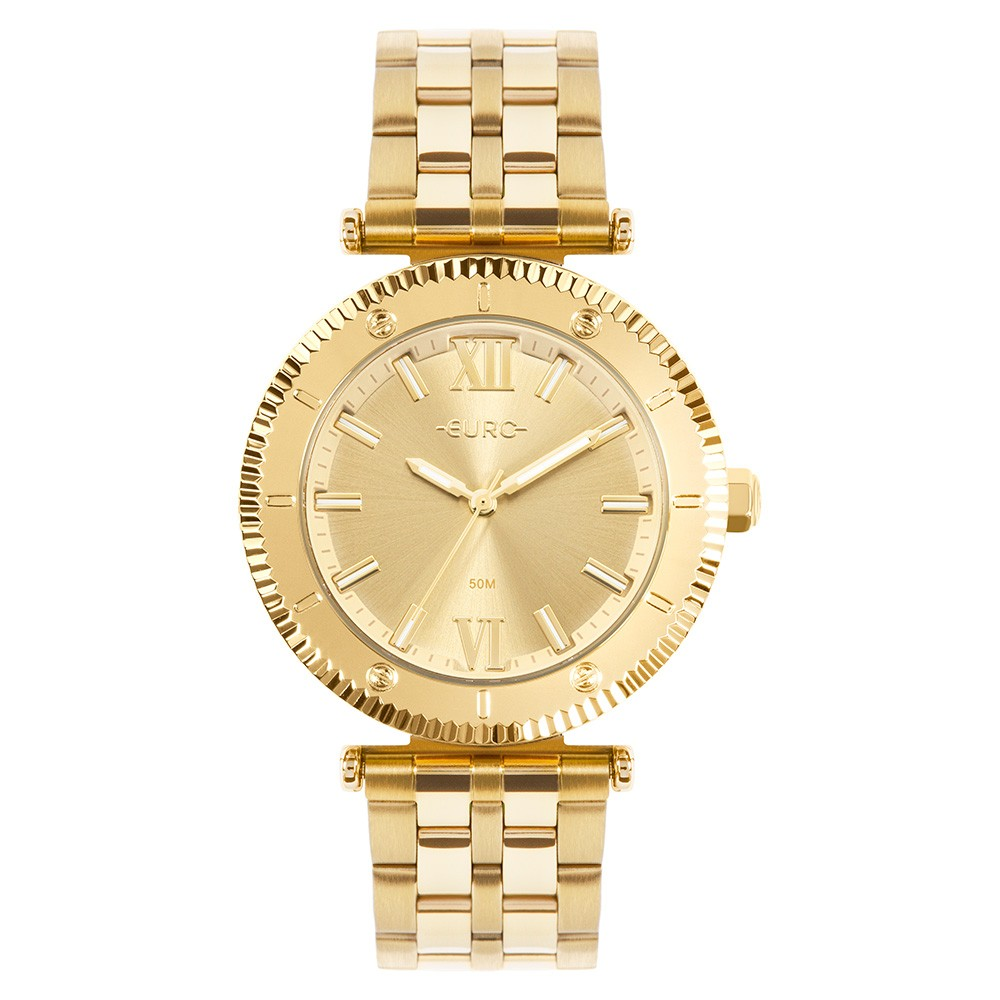 Relógio Feminino Euro Boyfriend Dourado EU2035YSJ/4D