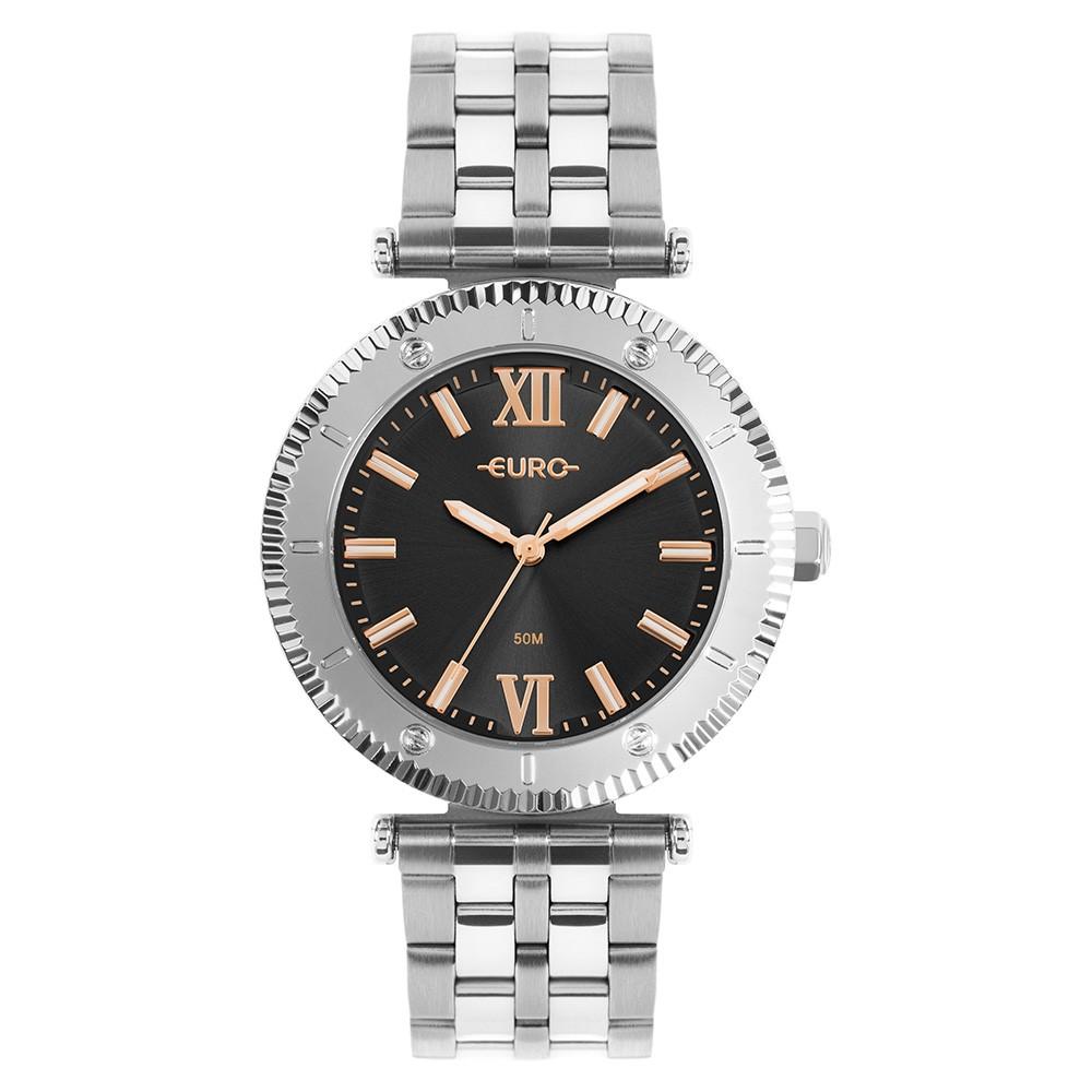 Relógio Feminino Euro Boyfriend Prata EU2035YSK/4P