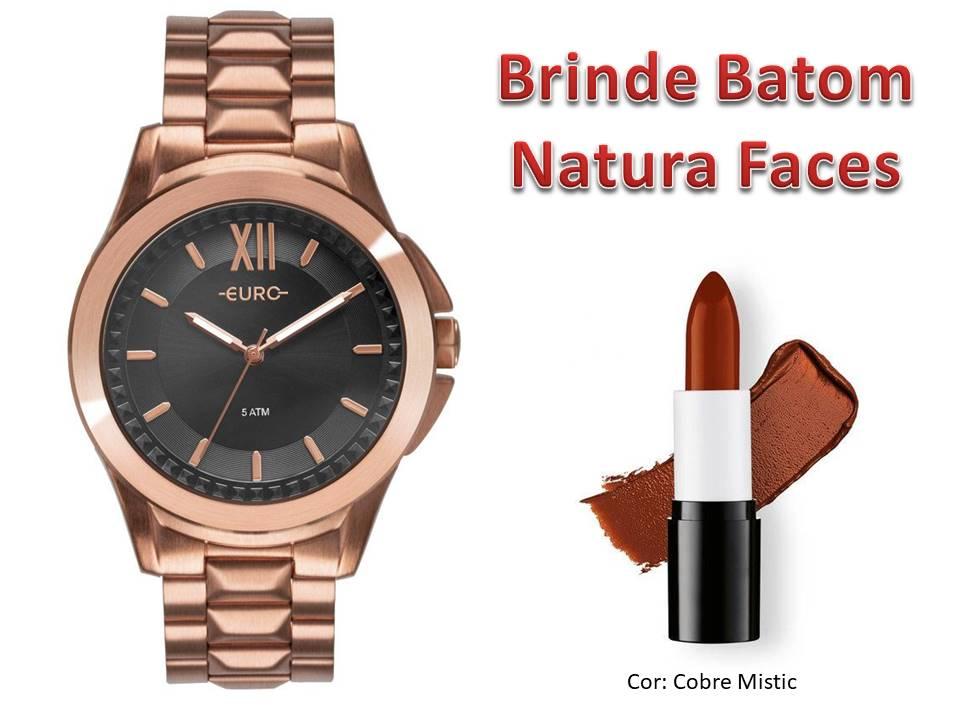 Relógio Euro Feminino EU2036YMU/4C + Brinde Batom Natura