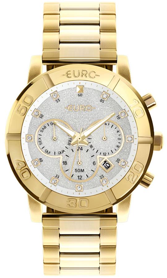 Relógio Feminino Euro Delux Dourado EUJP25AD/4B