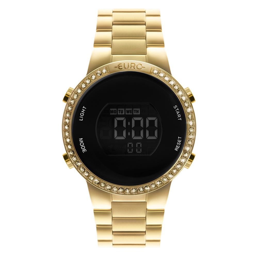 Relógio Feminino Euro Fashion Fit Glam Dourado EUBJ3279AG/4D