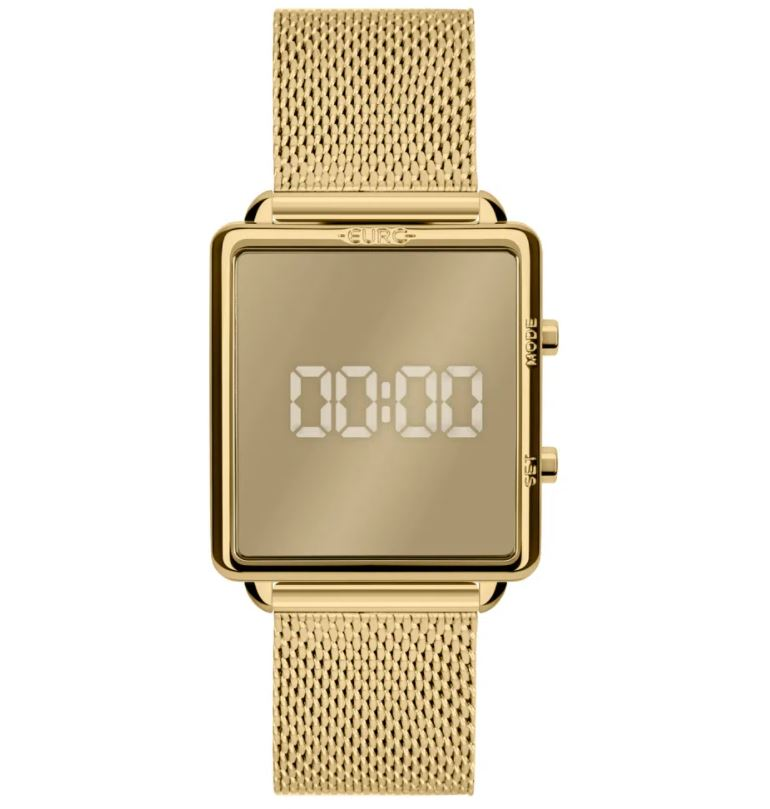 Relógio Feminino Euro Fashion Fit Reflexos Dourado EUJHS31BAM/4D
