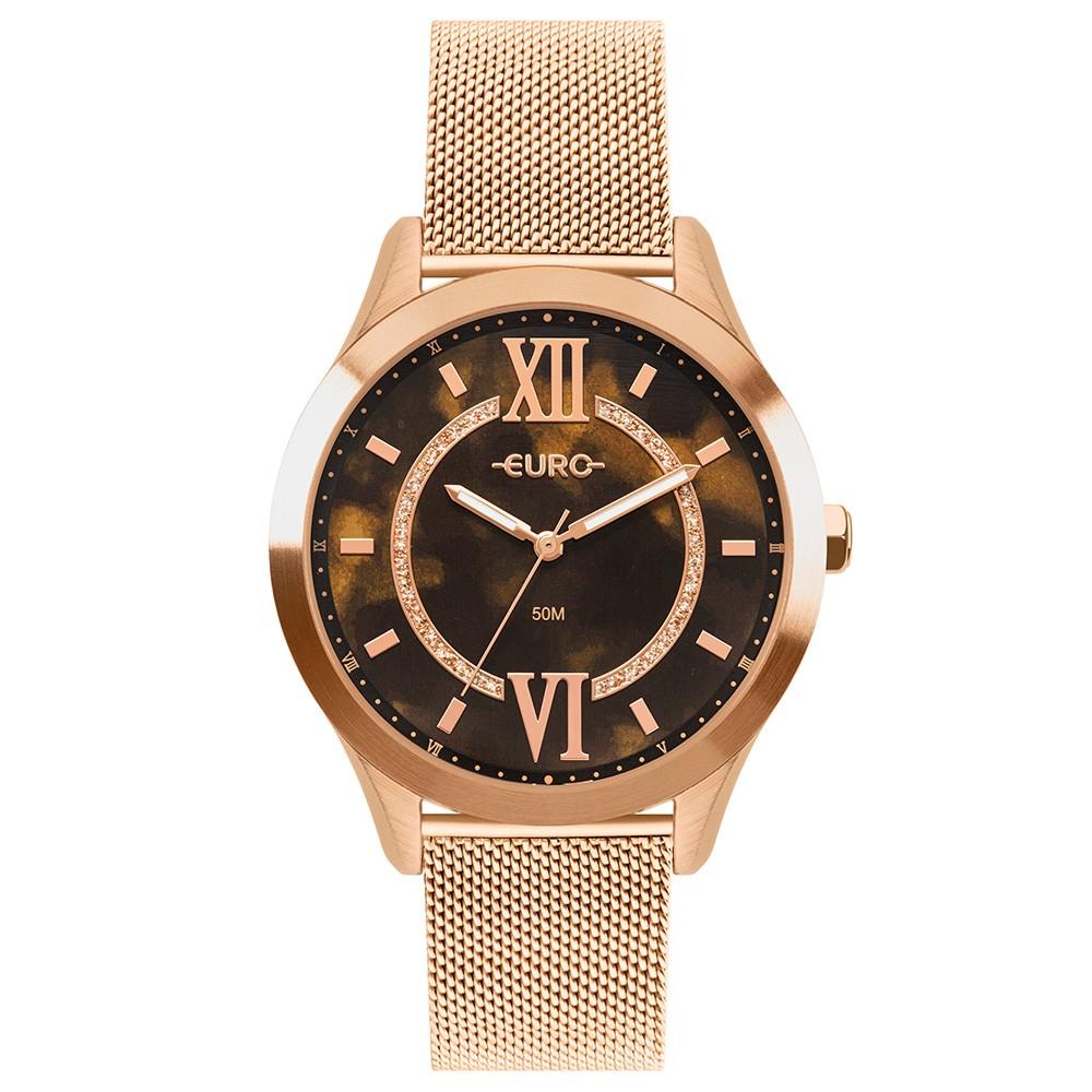 Relógio Feminino Euro Glam Glitz Rose EU2036YQX/4M