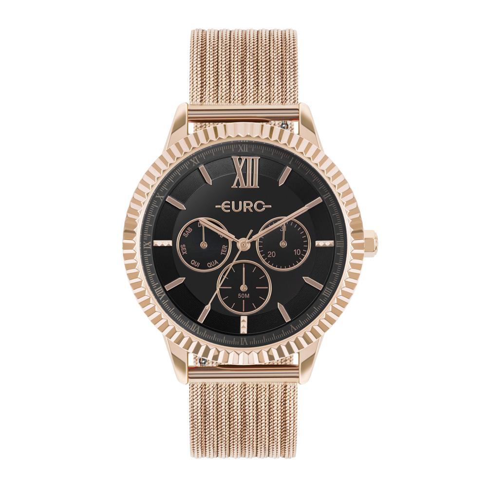 Relógio Feminino Euro Multiglow Multifunção Rose EU6P29AHP/4P