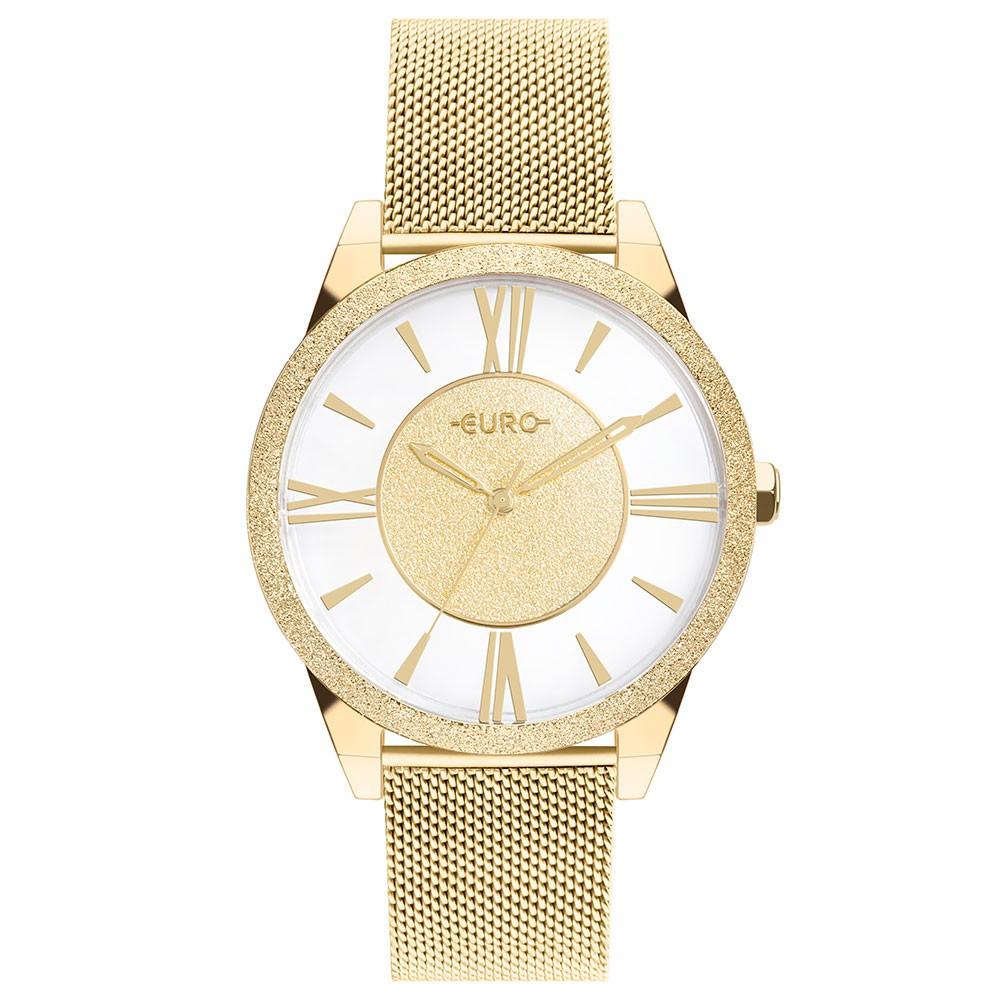 Relógio Feminino Euro Ouse Ser Você Mesma Dourado EU2036YQF/4D