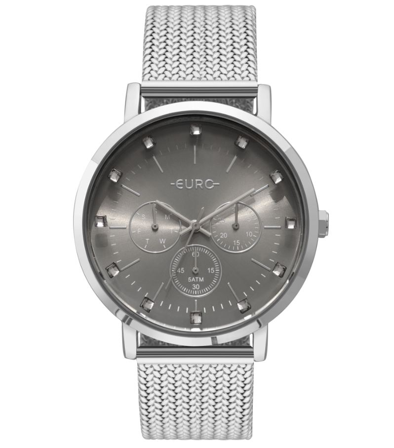 Relógio Feminino Euro Prata EUVD75AB/3K
