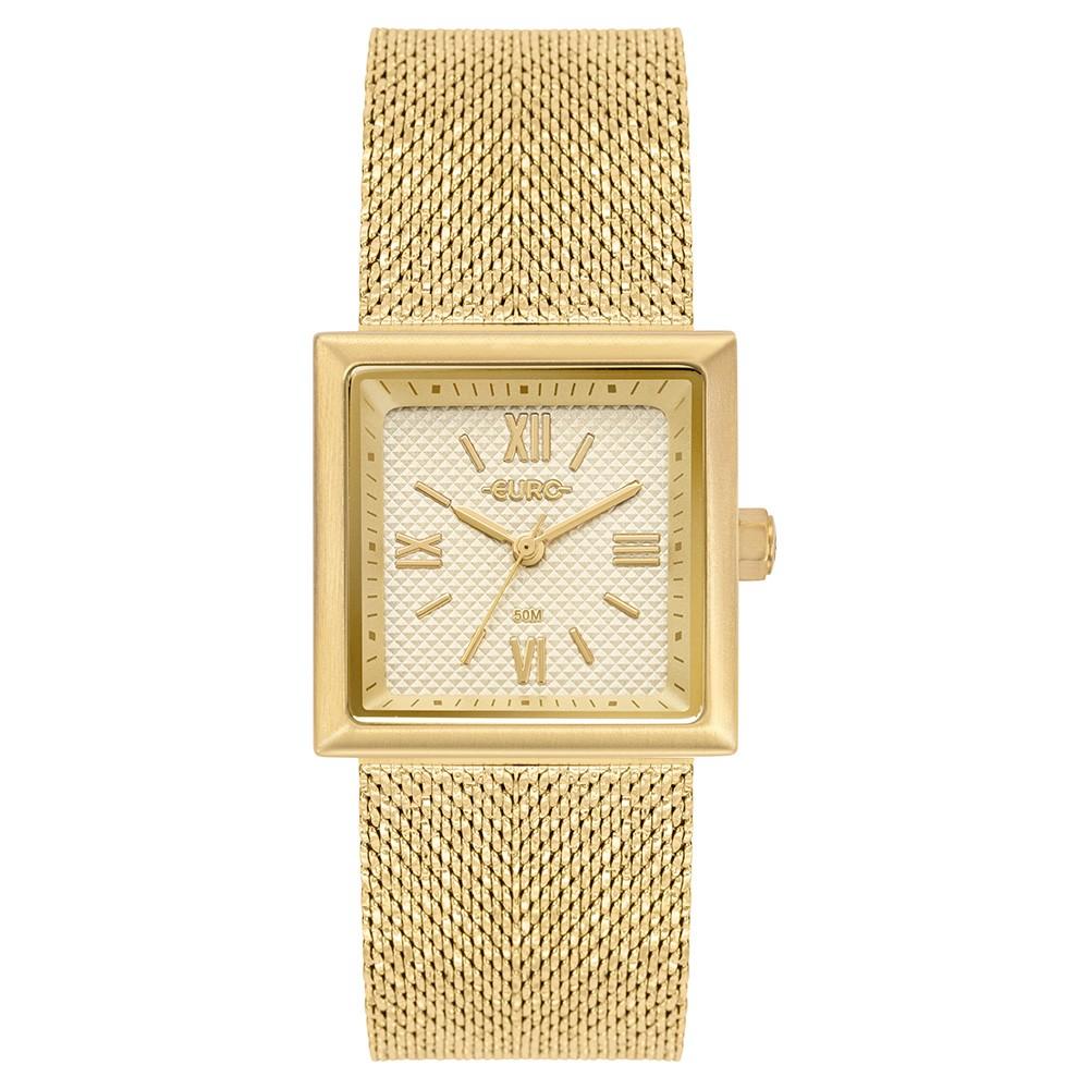 Relógio Feminino Euro Shiny Mesh Dourado EU2036YQI/4D