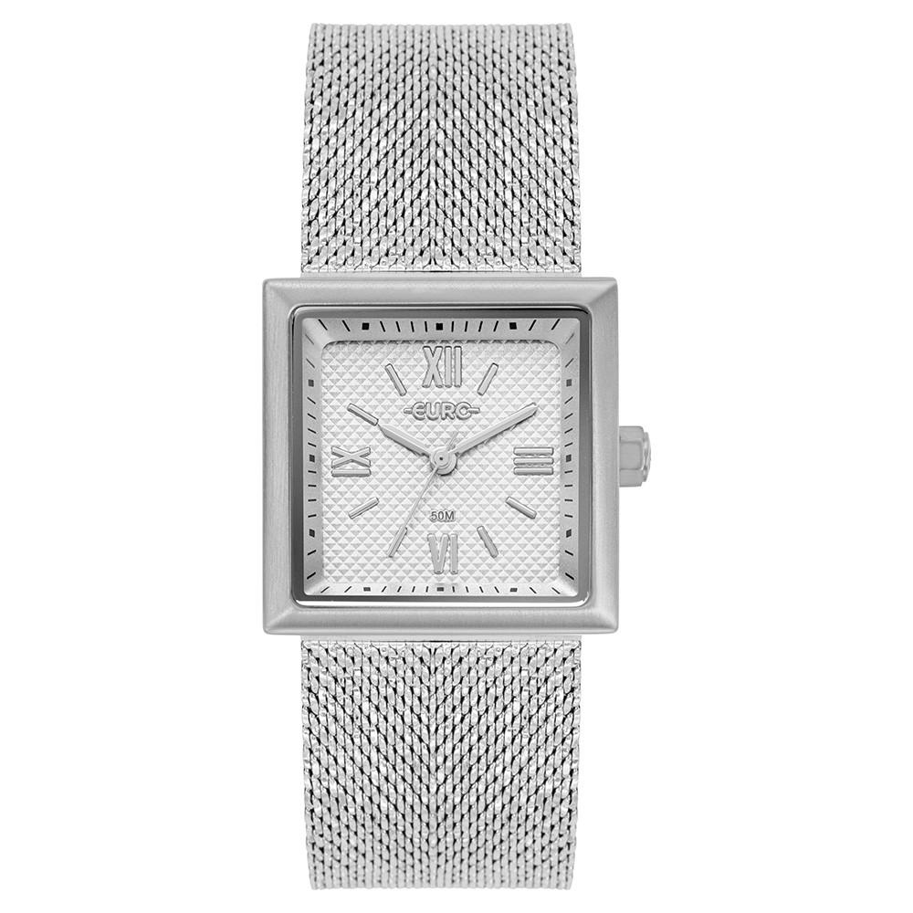 Relógio Feminino Euro Shiny Mesh Prata EU2036YQK/3K