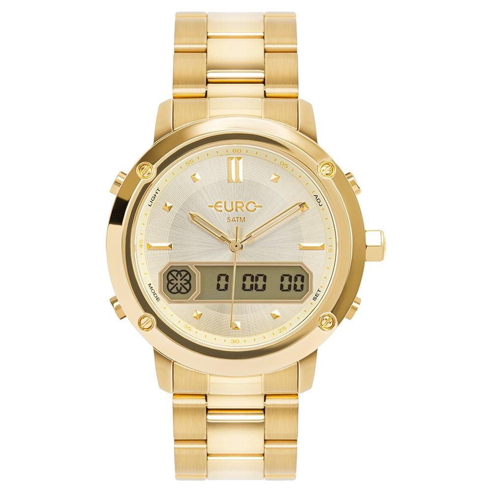 Relógio Feminino Euro Sporty Lux Dourado EUBJ3890AA/4D