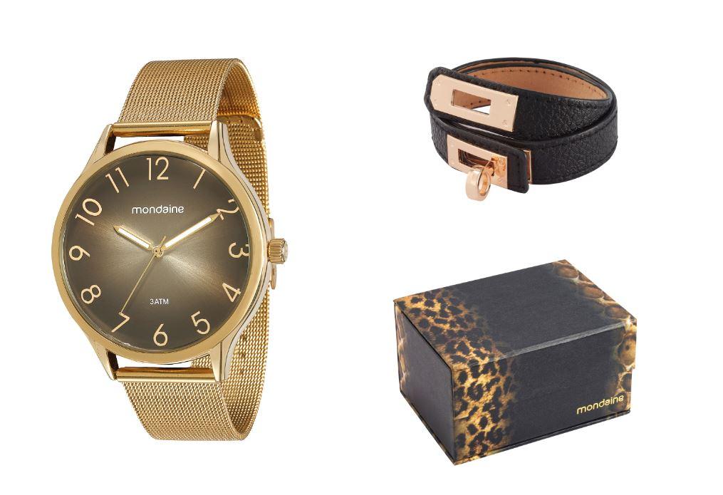 Kit Relógio Feminino Mondaine 76520LPMVDE1K1