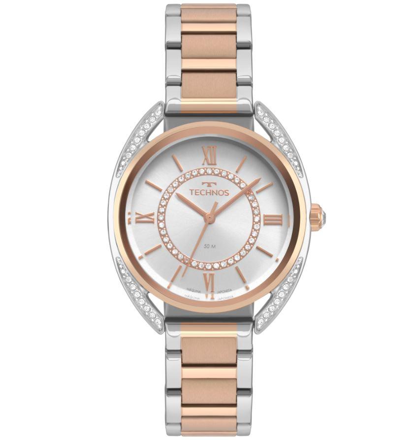 Relógio Feminino Technos Crystal Bicolor 2035MRF/5K