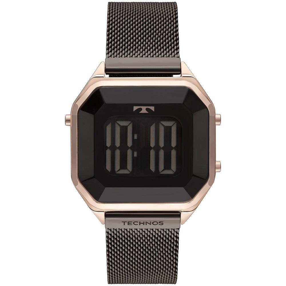 Relógio Feminino Technos Digital Crystal Bicolor BJ3851AN/1P