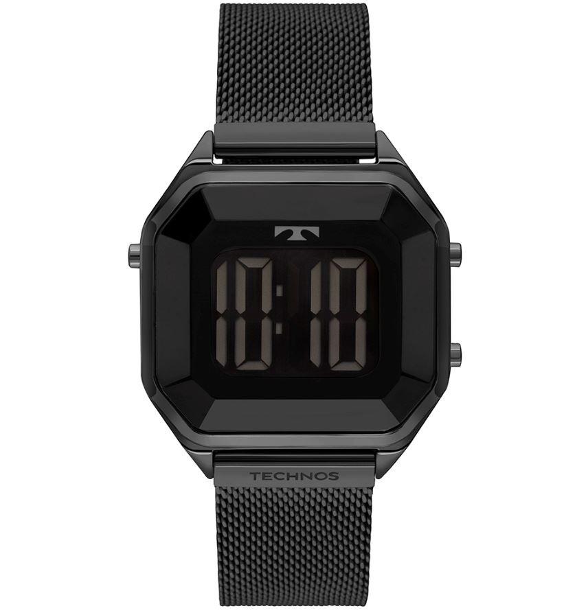 Relógio Feminino Technos Digital Crystal Preto BJ3851AO/1P