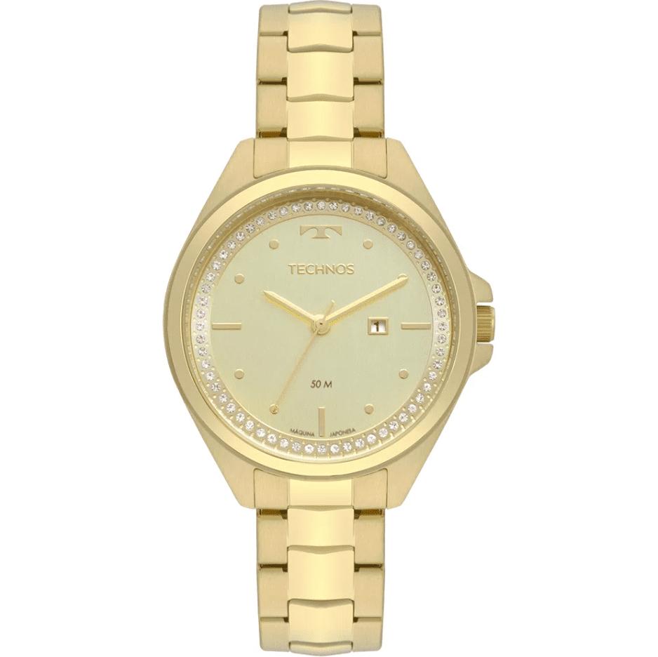 Relógio Feminino Technos Dourado 2015CBV/K4X