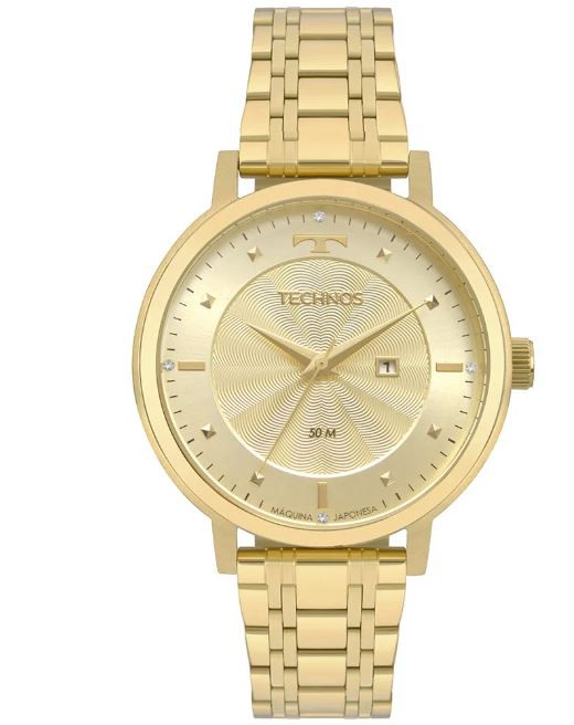 Relógio Feminino Technos Dourado 2015CCS/K4X