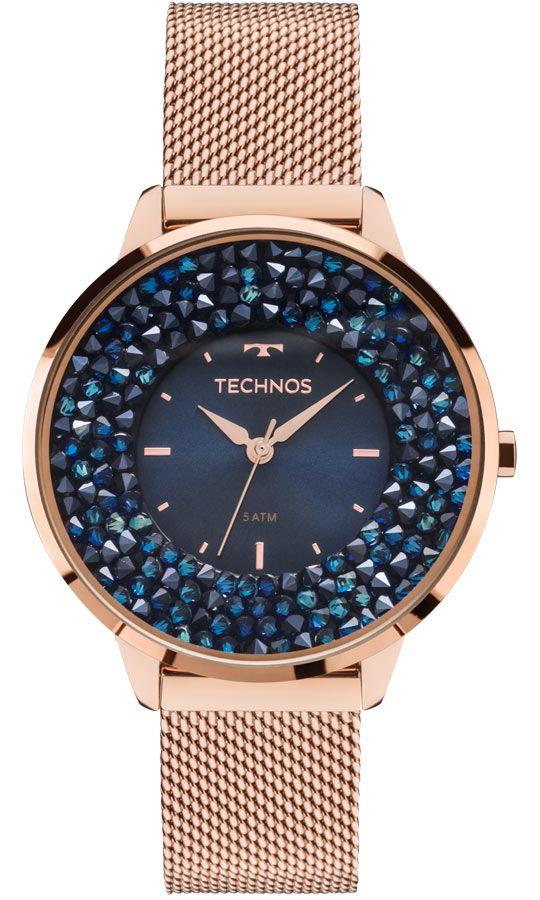Relógio Feminino Technos Elegance Crystal Swarovski 2035MLE/4A